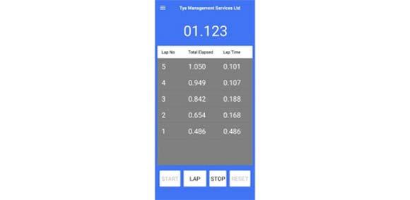Centi-Minute Stopwatch دانلود برنامه تایمر پیشرفته