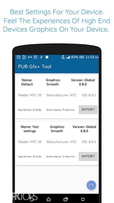 PUB Gfx+ Tool🔧:#1 GFX Tool(with advance settings) v0.16.7 دانلود برنامه تنظیمات گرافیکی پیشرفته برای بازی ها اندروید
