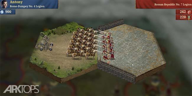 Great Conqueror:Rome v1.0.4 دانلود بازی فتح بزرگ روم اندروید