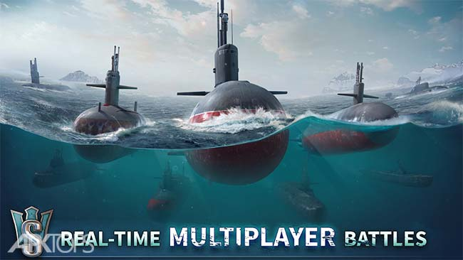 WORLD of SUBMARINES: Navy Shooter 3D War Game v1.1.1 دانلود بازی دنیای زیردریایی ها +مود اندروید