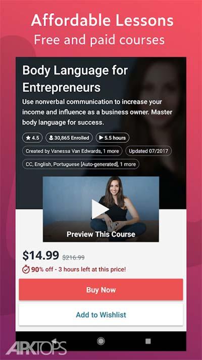 Udemy - Online Courses v5.9.5 دانلود برنامه دروس اموزشی انلاین اندروید