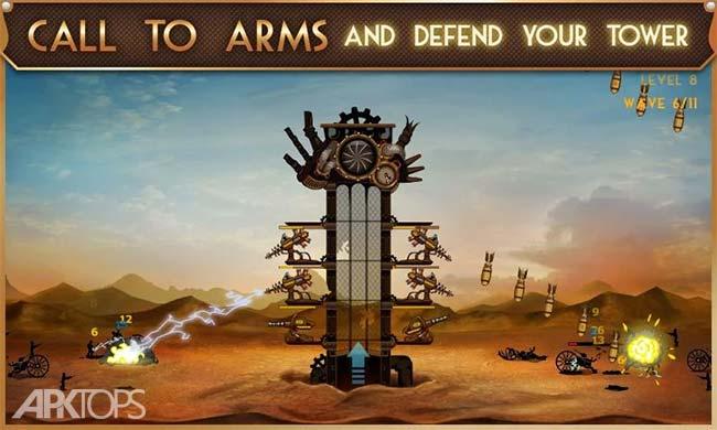 Steampunk Tower v1.5.6 دانلود بازی برج دفاعی بخار +مود اندروید