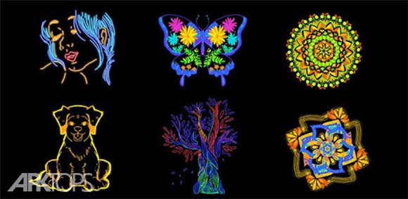 Doodle Master - Glow Art دانلود برنامه طراحی دودل های هنری