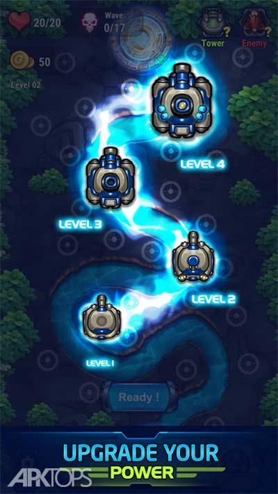 Tower Defense: Galaxy V v1.1.1 دانلود بازی برج دفاعی کهکشان وی +مود اندروید
