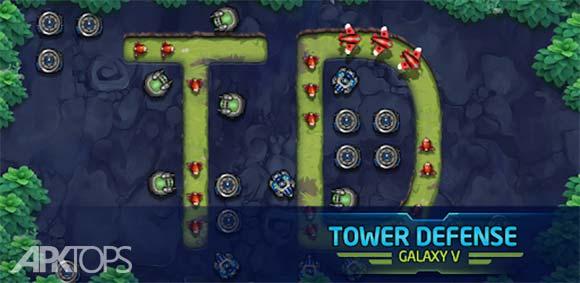 Tower Defense: Galaxy V دانلود بازی برج دفاعی کهکشان وی