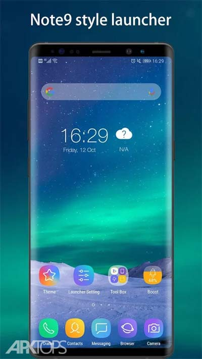Cool Note9 Launcher for Note, A, S - Theme, UI v3.2 دانلود برنامه لانچر نوت ناین اندروید