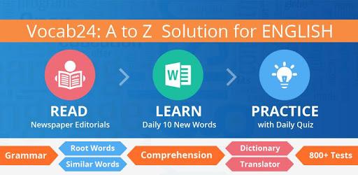 #1 Vocab App: Hindu Editorial, Grammar, Dictionary