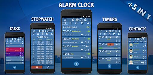 Alarm Clock & Timer & Stopwatch & Tasks & Contacts