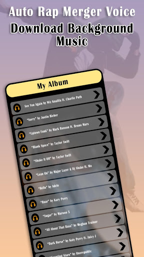 Auto Rap : Merge Voice With Music v1.3 دانلود برنامه ترکیب صدا و ساخت اهنگ رپ اندروید