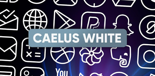 Caelus White Icon Pack - White Linear Icons