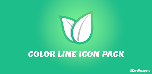 Color Line Icon Pack- color lines on white icons