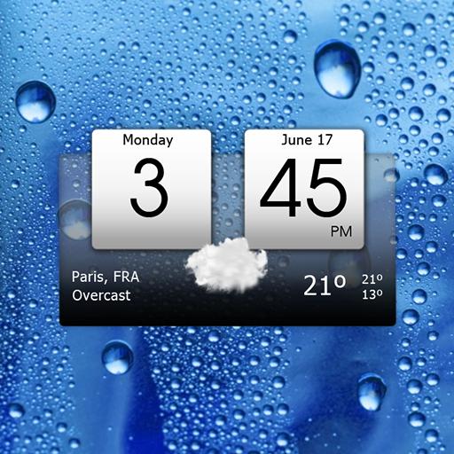 Digital clock & weather v5.50.0.1 دانلود برنامه ساعت دیجیتال و هواشناسی اندروید