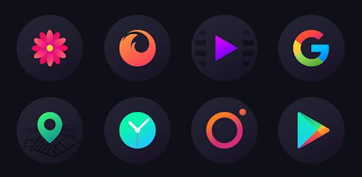 Hera Dark Icon Pack - Circle Shaped Dark Icons