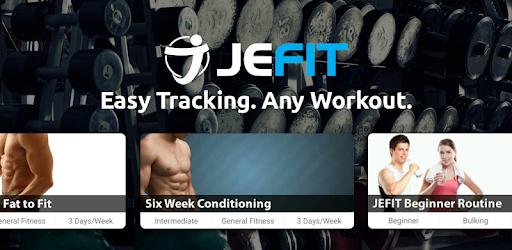 JEFIT Workout Tracker, Weight Lifting, Gym Log App