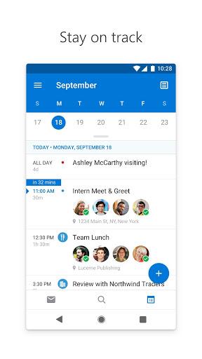 Microsoft Outlook v4.0.82 دانلود برنامه رسمی مایکروسافت اوت لوک اندروید اندروید