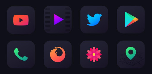 Nova Dark Icon Pack - Rounded Square Shaped Icons