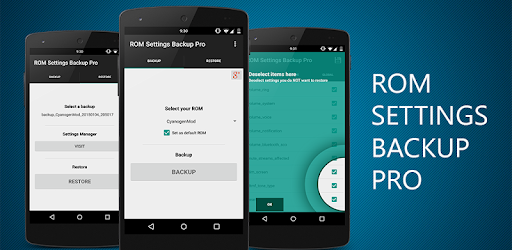ROM Settings Backup Pro