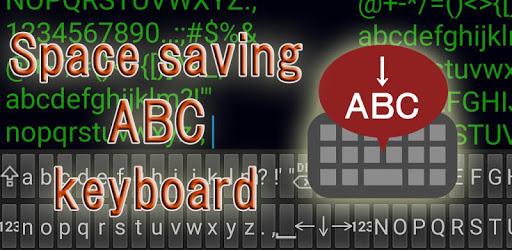 Space saving ABC keyboard