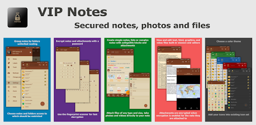 VIP Notes - notepad with encryption text and files