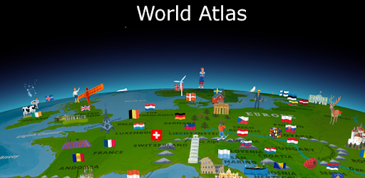 world map atlas 2019